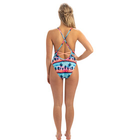 Dolfin Print Low X-Back One Piece Swimsuit Women santa monica
